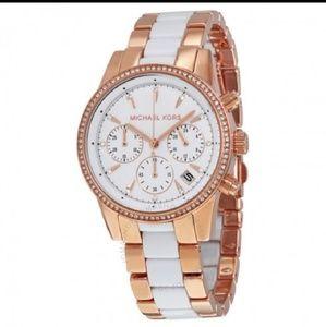 NWT Michael Kors Ritz Rose Gold Watch MK6324